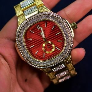 Other - Iced Out Red Face luxurious stylish watch